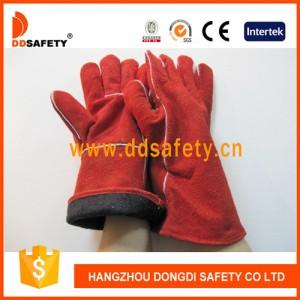 红色牛二层电焊皮手套-- 杭州东迪进出口有限公司