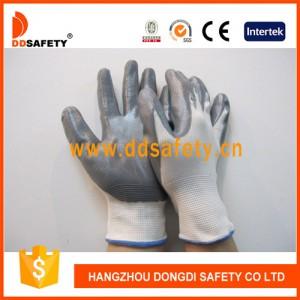 白色尼龙灰色丁腈手套-- 杭州东迪进出口有限公司