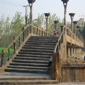 精美水泥仿木栏杆定制 绿色环保低碳-- 河南省天目装饰材料有限公司