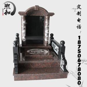 惠安山西黑石碑廠家誠信批發各種款式火葬墓碑藝術墓碑 支持定做-- 富士熙和石業