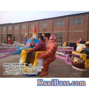 机械熊出没丨旋转升降型游乐设备丨厂家低价销售丨三和游乐-- 荥阳市星河游乐设备厂