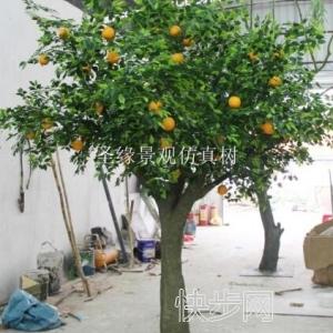庭院仿真橙子树设计仿真橙子树哪有卖-- 广州市庆缘景观园林设计有限公司