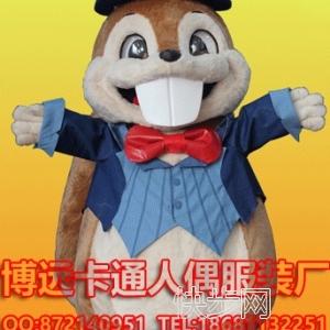 来图定制卡通人偶服装动物模型松鼠行走公仔表演服饰-- 广州博远卡通人偶服装厂