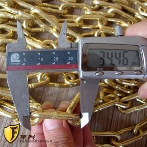 兴杰生产2mm,3mm防爆链条黄铜链条紫