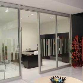 无锡 钢化玻璃隔断 单层双层钢化玻璃