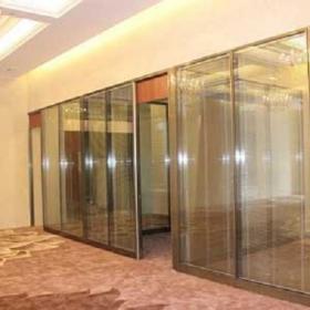 无锡 双玻百叶隔断 玻璃隔断与百叶帘