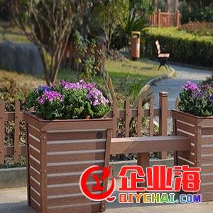 道路隔离带组合花箱,郑州塑木隔离带花箱厂家直销-- 河南美特盛新材料科技有限公司